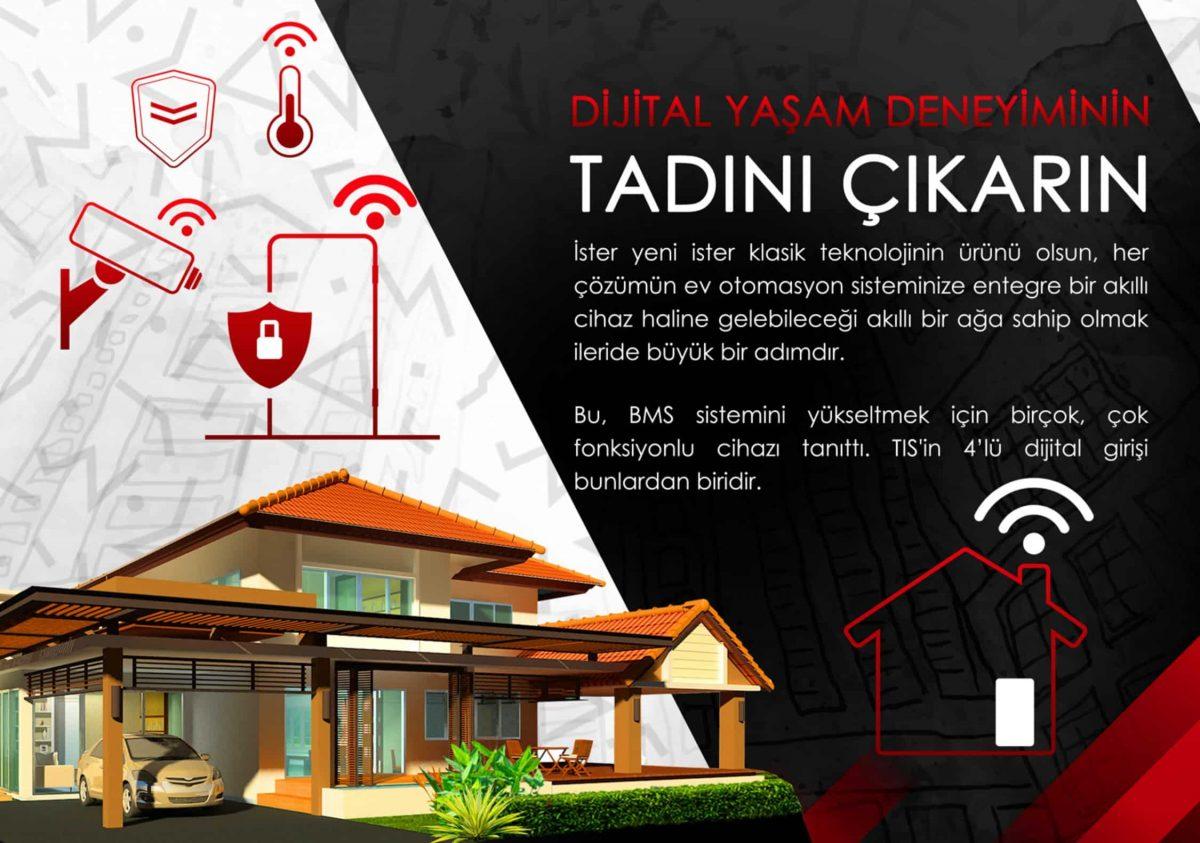 Akıllı ev sistemi nasıl çalışır, Akıllı ev sistemi nasıl çalışır, TİS Akıllı Ev Sistemleri